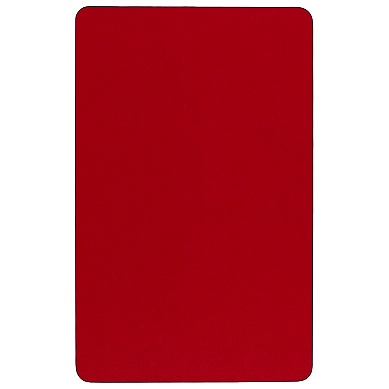 #30 - Mobile 30''W x 48''L Rectangular Activity Table with Red Thermal Fused Laminate Top and Standard Height Adjustable Legs