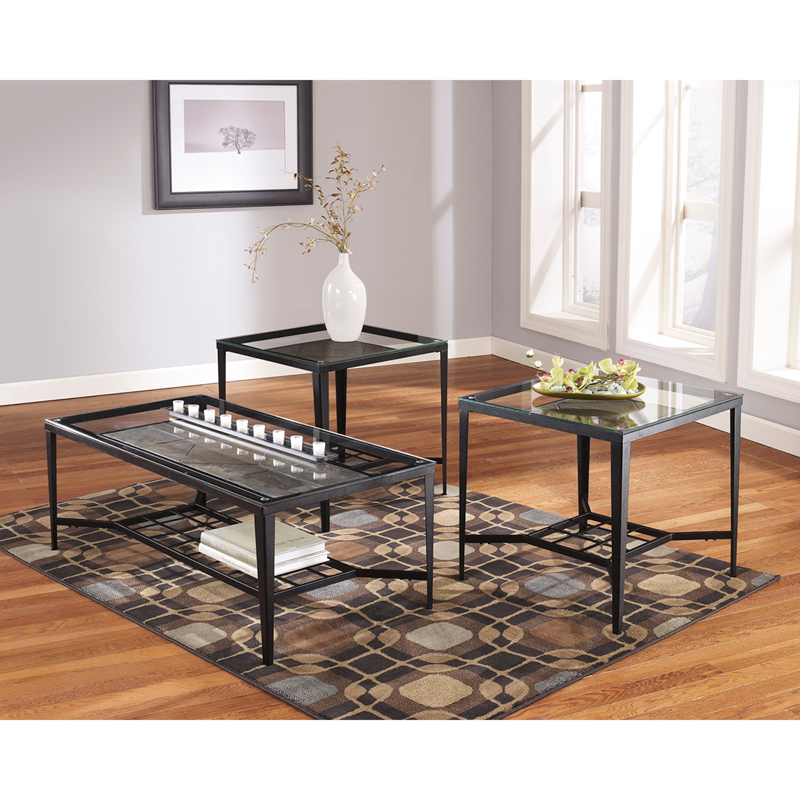 #8 - SIGNATURE DESIGN BY ASHLEY CALDER 3 PIECE OCCASIONAL TABLE SET