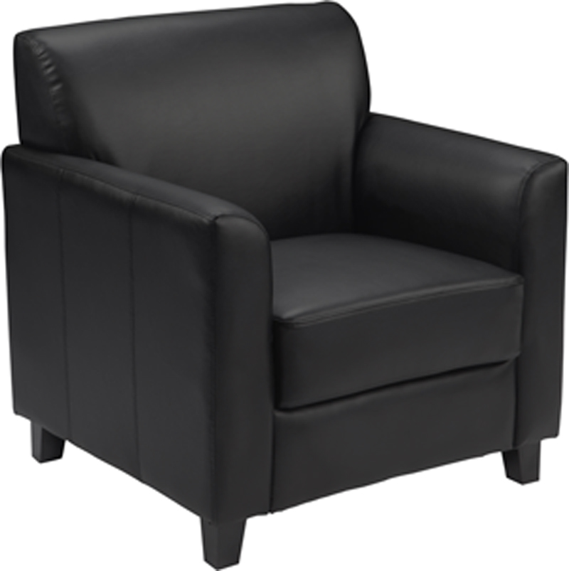 #76 - DIPLOMAT SERIES BLACK LEATHER CHAIR