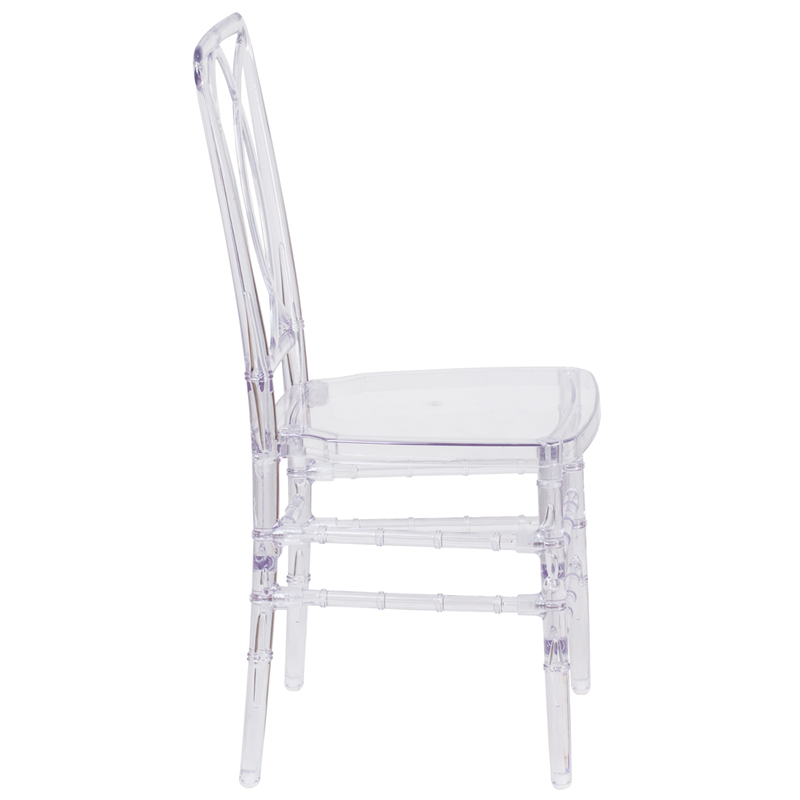 #15 - Crystal Clear Stacking Chair with Designer Back