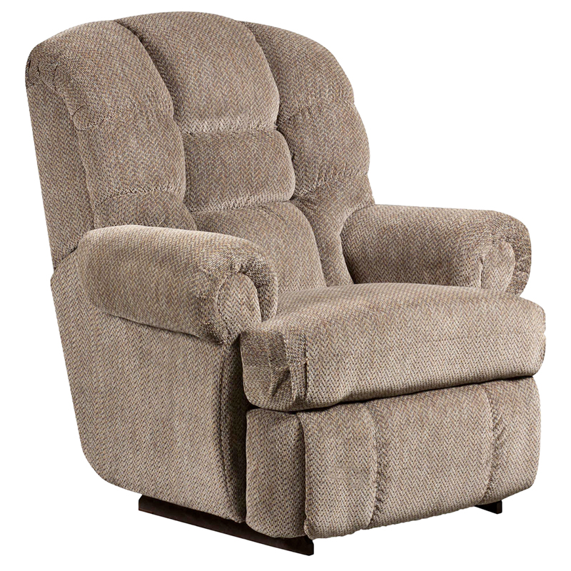 #3 - BIG AND TALL 350 LB. CAPACITY GAZETTE PEWTER MICROFIBER RECLINER