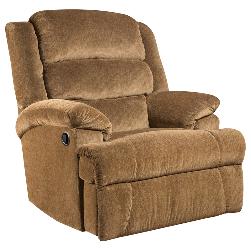 #5 - BIG AND TALL 350 LB. CAPACITY AYNSLEY AMBER MICROFIBER RECLINER