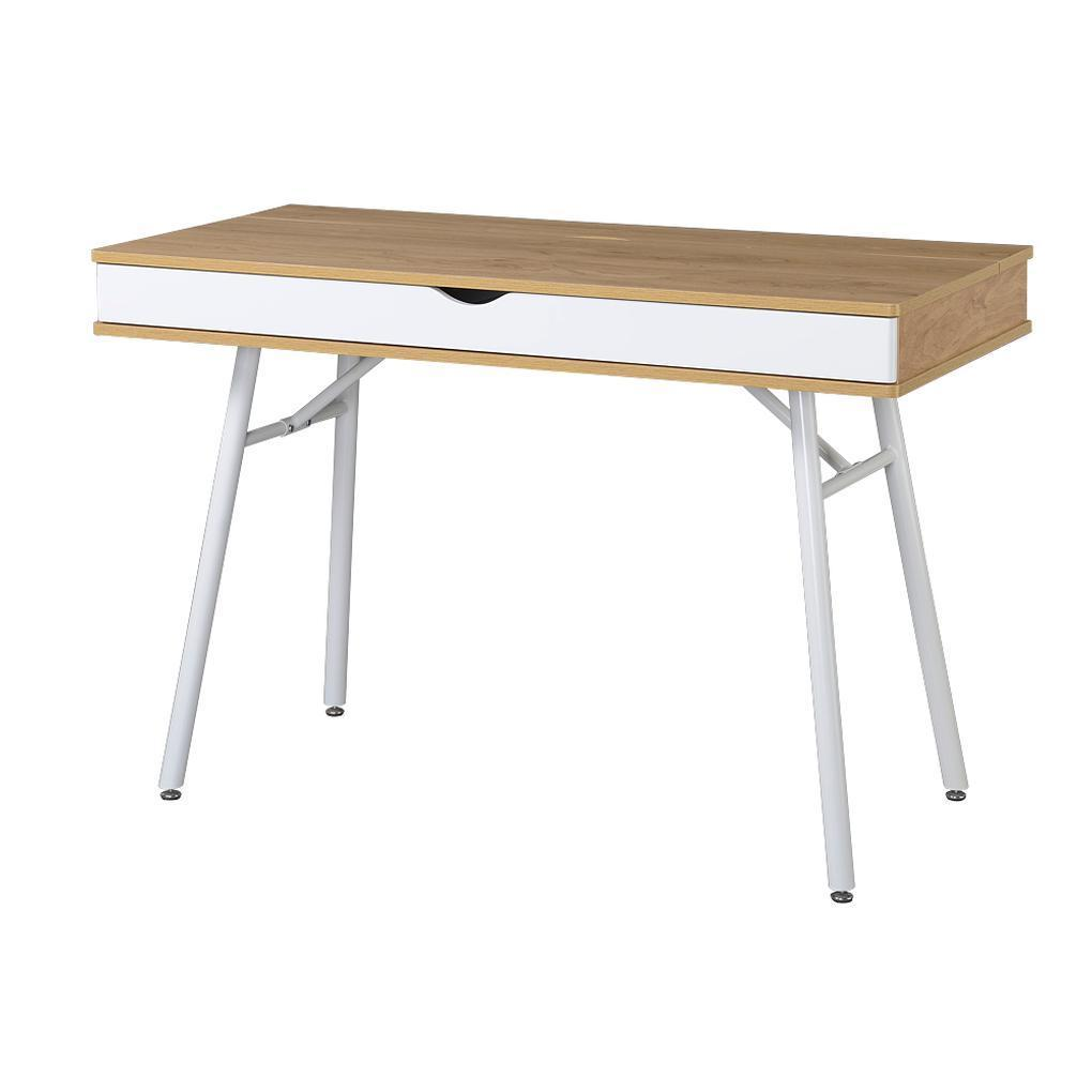 #70 - Modern Workstation Desk with Multi-Compartment Storage and Cord Management