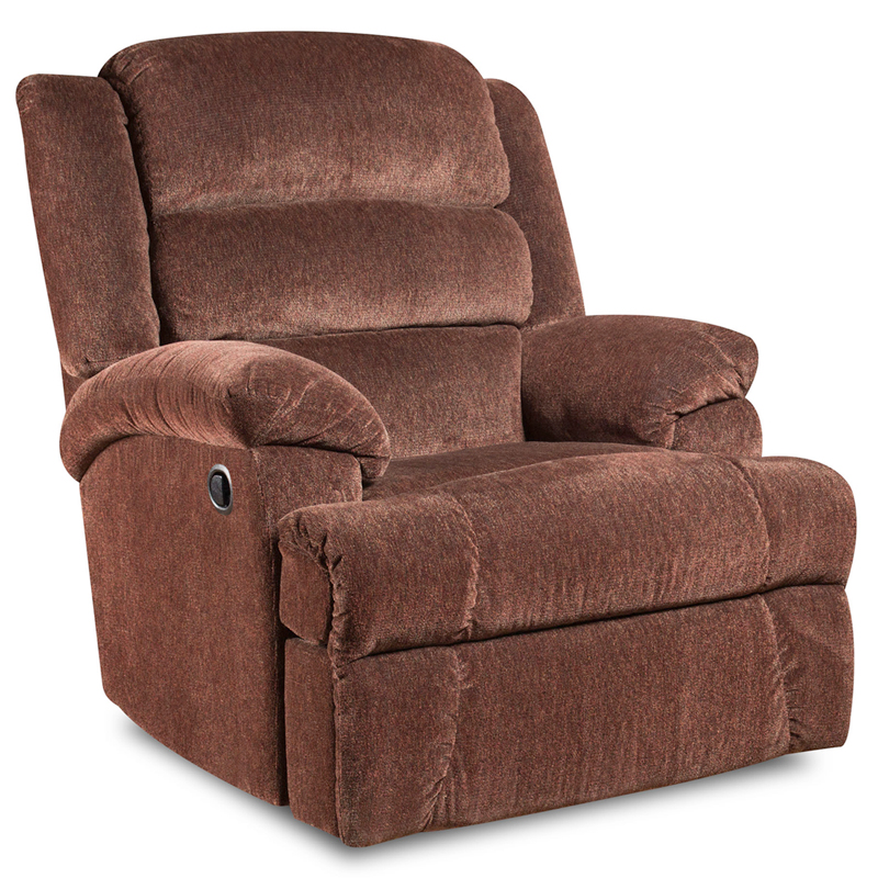 #6 - BIG AND TALL 350 LB. CAPACITY AYNSLEY CLARET MICROFIBER RECLINER