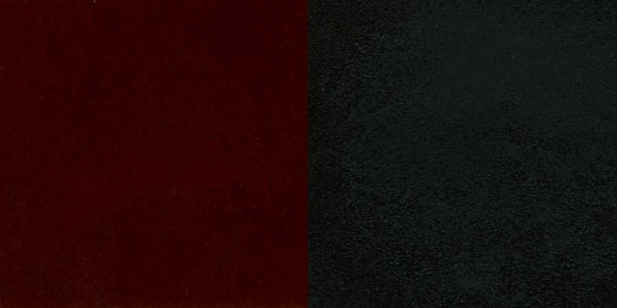 #25 - BLACK ''X'' BACK METAL RESTAURANT CHAIR - MAHOGANY WOOD SEAT