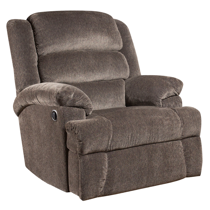 #7 - BIG AND TALL 350 LB. CAPACITY AYNSLEY CHARCOAL MICROFIBER RECLINER