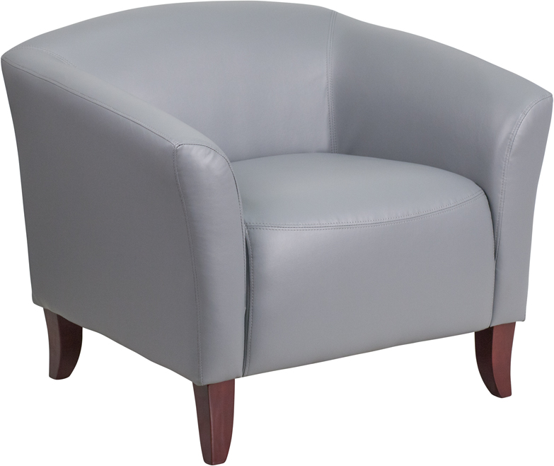 #2 - IMPERIAL SERIES GRAY LEATHER CHAIR