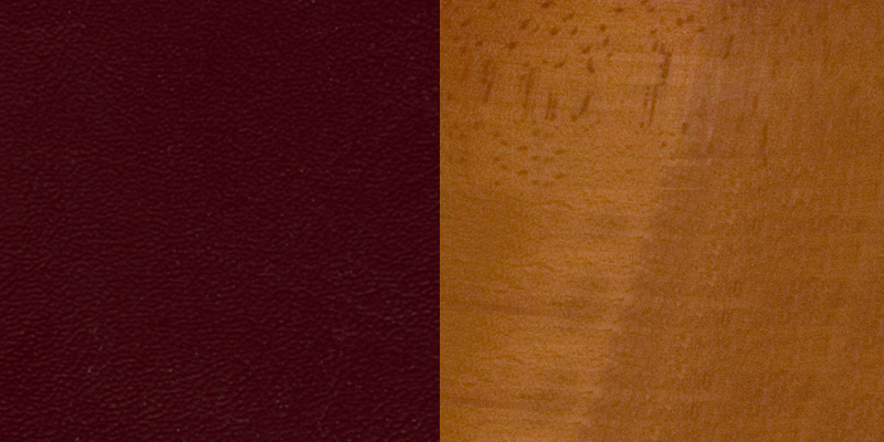 #14 - CHERRY WOOD FINISHED VERTICAL SLAT BACK RESTAURANT BAR STOOL WITH BURGUNDY VINYL