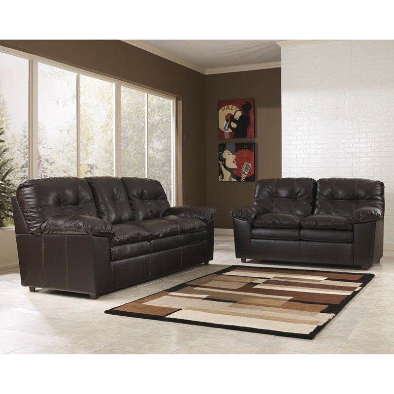 #37 - Signature Design by Ashley Jordon Living Room Set in Java DuraBlend