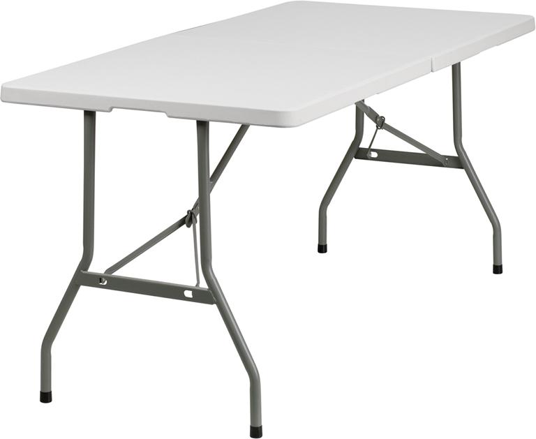 #11 - 30''W X 60''L PLASTIC BI-FOLDING TABLE