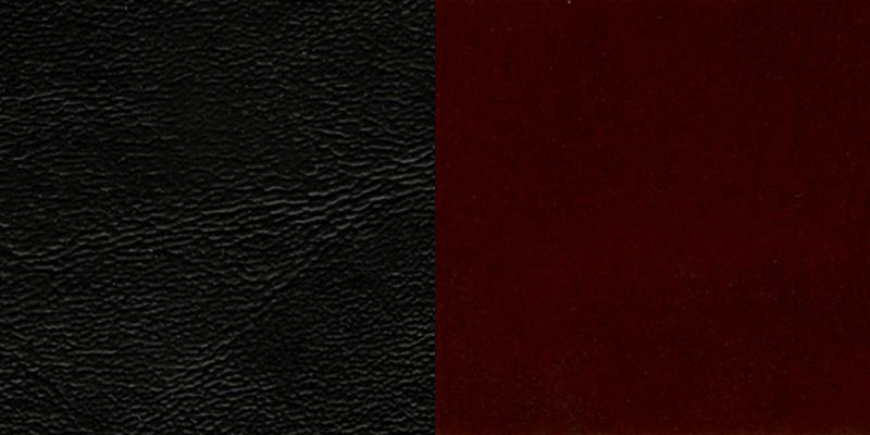 #16 - MAHOGANY WOOD FINISHED VERTICAL SLAT BACK RESTAURANT BAR STOOL WITH BLACK VINYL