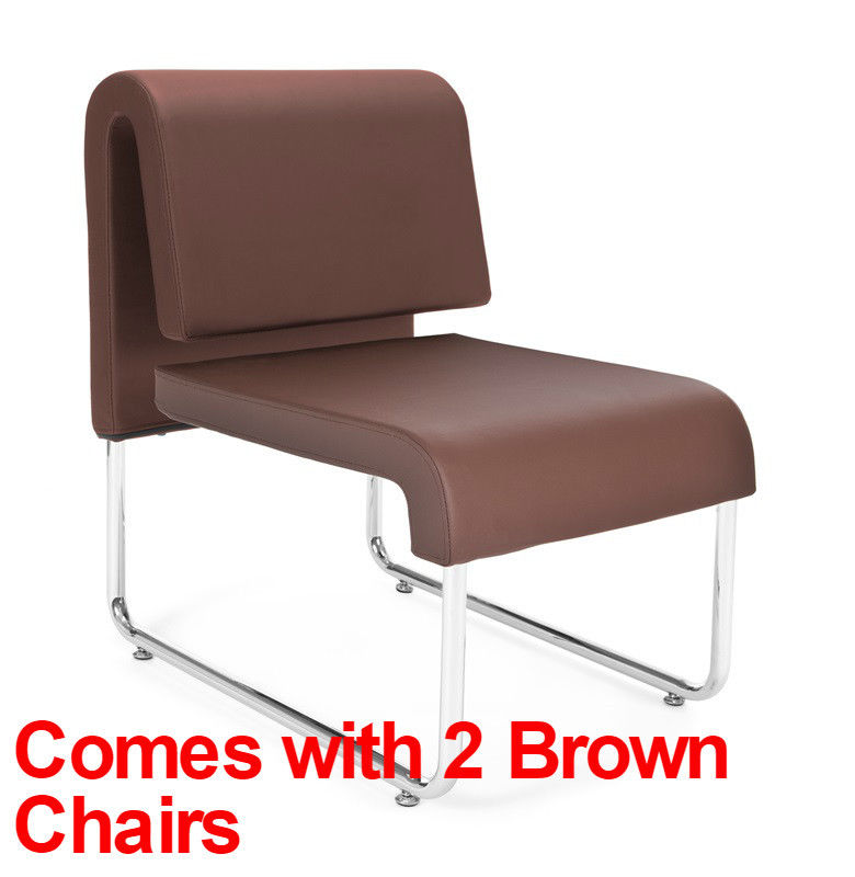 #90 - (3 PCS)UNO Series Lounge Package with Brown Chairs & Windswept Bronze Table