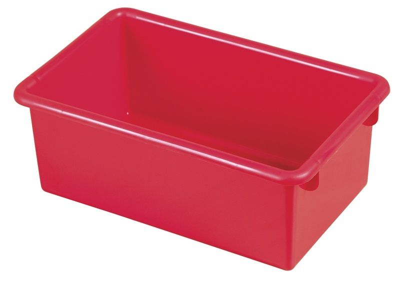 #69 - Heavy Duty Polypropylene Plastic Storage Tubs without Lids in Red