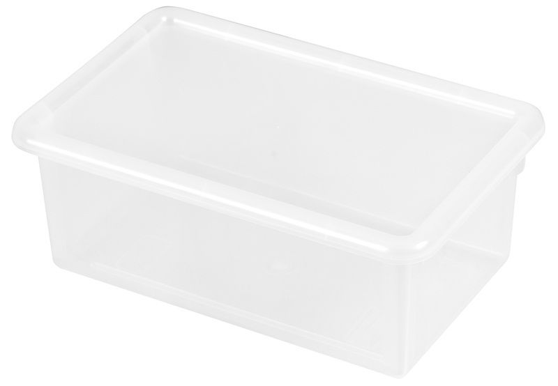 #71 - Heavy Duty Polypropylene Plastic Storage Tubs with Lids in Clear