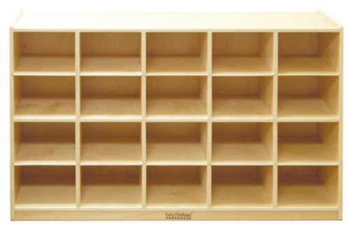 #32 - 20 Tray Storage Cabinet with 20 Sand Colored Bins