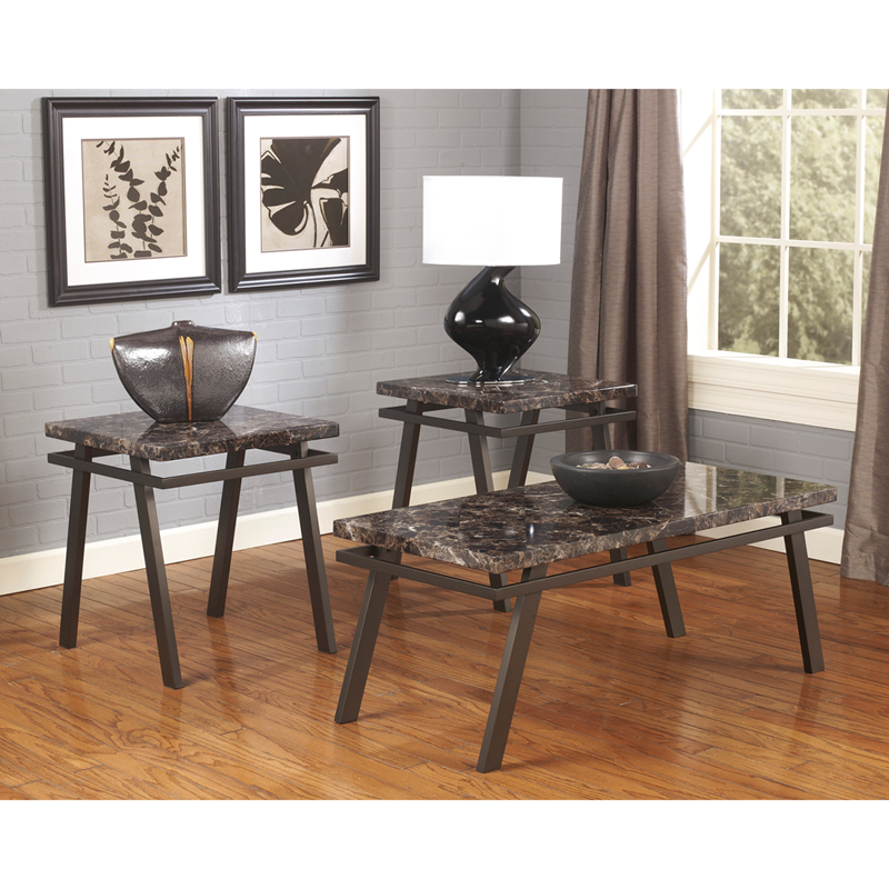 #9 - SIGNATURE DESIGN BY ASHLEY PAINTSVILLE 3 PIECE OCCASIONAL TABLE SET
