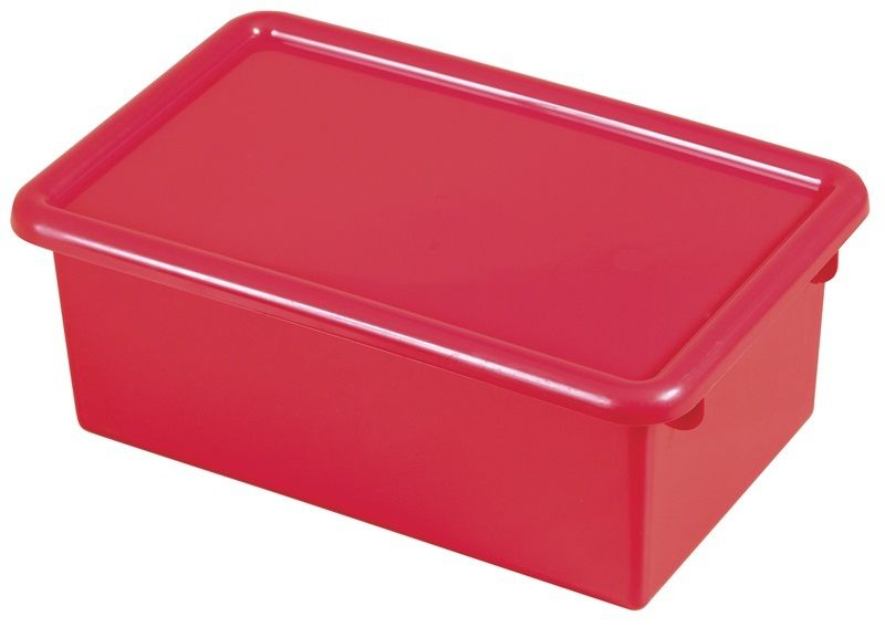 #72 - Heavy Duty Polypropylene Plastic Storage Tubs with Lids in Red