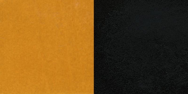 #36 - BLACK CIRCLE BACK METAL RESTAURANT CHAIR - NATURAL WOOD BACK & SEAT