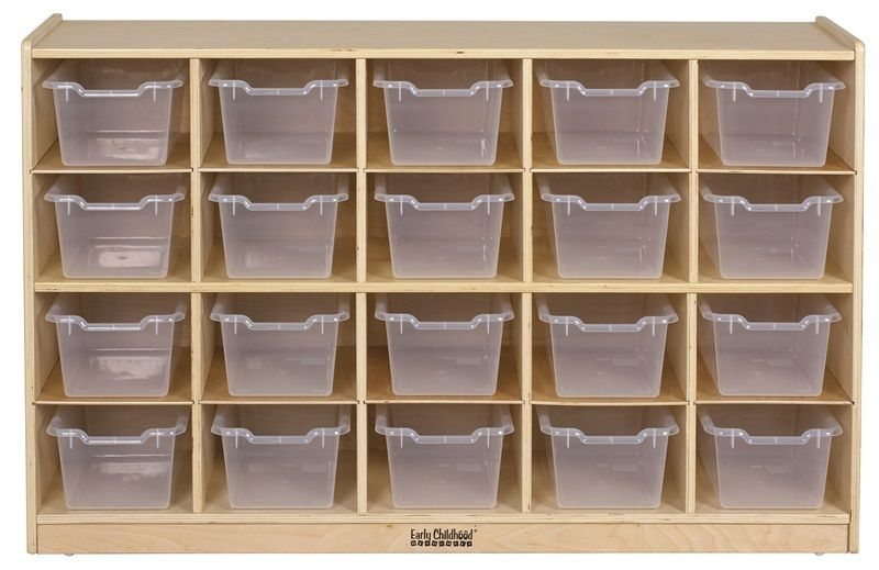 #33 - 20 Tray Storage Cabinet with 20 Clear Bins