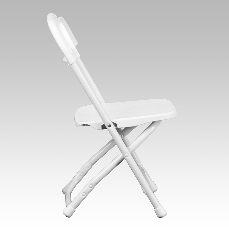 #31 - KIDS WHITE PLASTIC FOLDING CHAIR