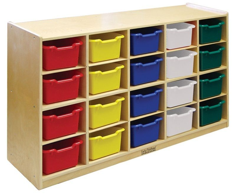 #34 - 20 Tray Storage Cabinet with 20 Assorted Bins