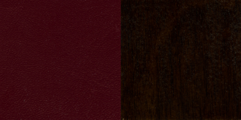 #23 - WALNUT WOOD FINISHED VERTICAL SLAT BACK RESTAURANT BAR STOOL WITH BURGUNDY VINYL