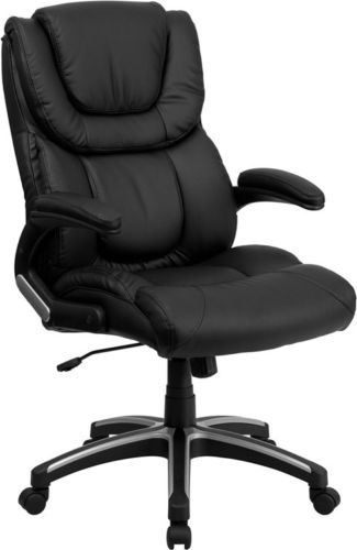 #147 - High Back Black Leather Executive Office Chair