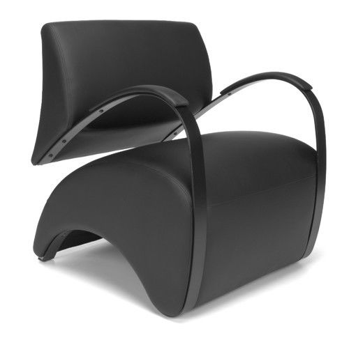 #112 - Recoil Series Black Reception Lounge Chair