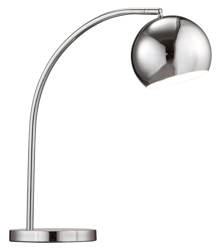 #132 - Modern Compact & Convenient Table Lamp in Chrome - Home Decor