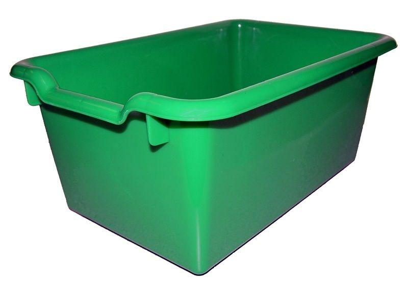 #78 - Versatile Scoop Front Plastic Storage Bins in Green