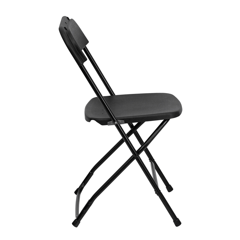 #1 - 650 LBS CAPACITY BLACK PLASTIC FOLDING CHAIRS