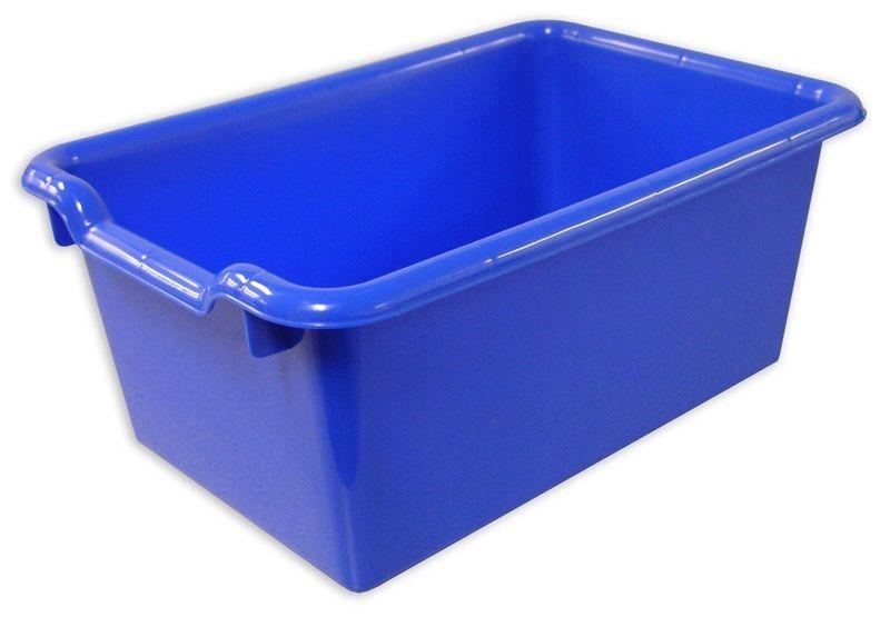 #79 - Versatile Scoop Front Plastic Storage Bins in Blue