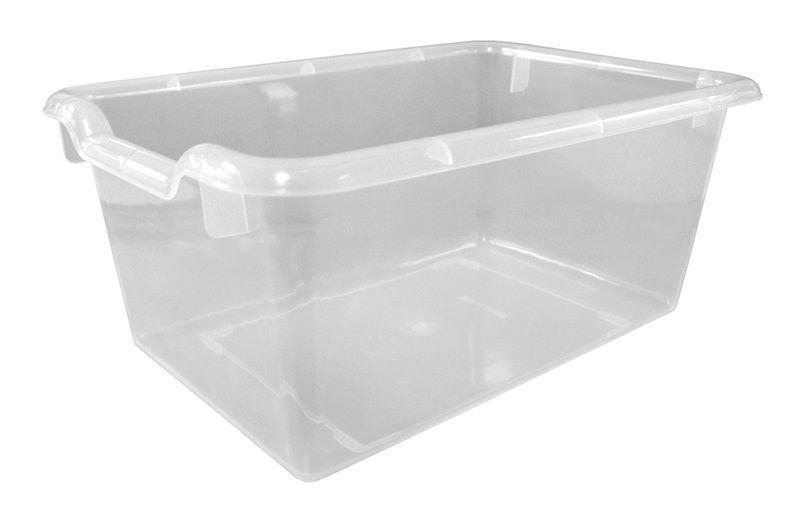 #80 - Versatile Scoop Front Plastic Storage Bins in Clear