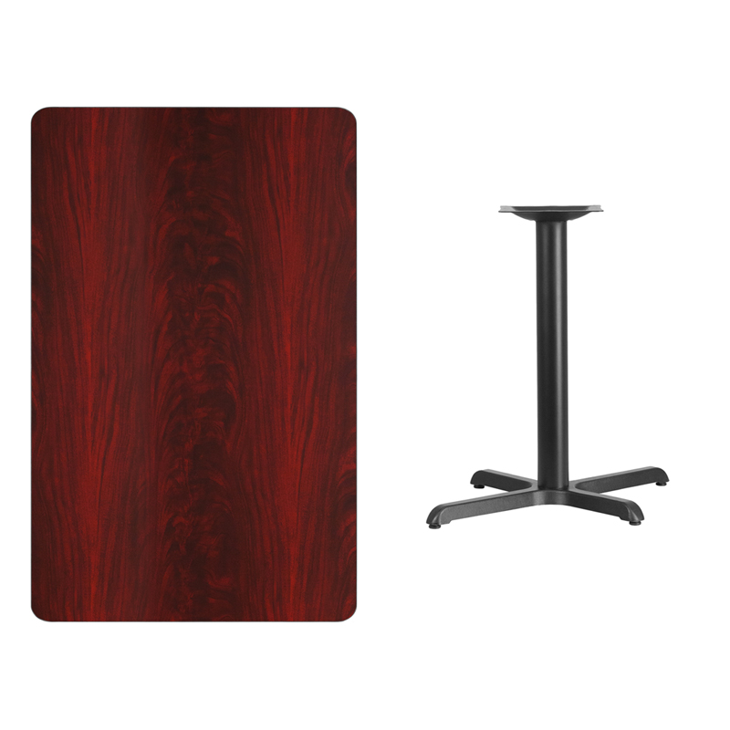 #202 - 30'' X 48'' RECTANGULAR MAHOGANY LAMINATE TABLE TOP WITH 22'' X 30'' TABLE HEIGHT BASE