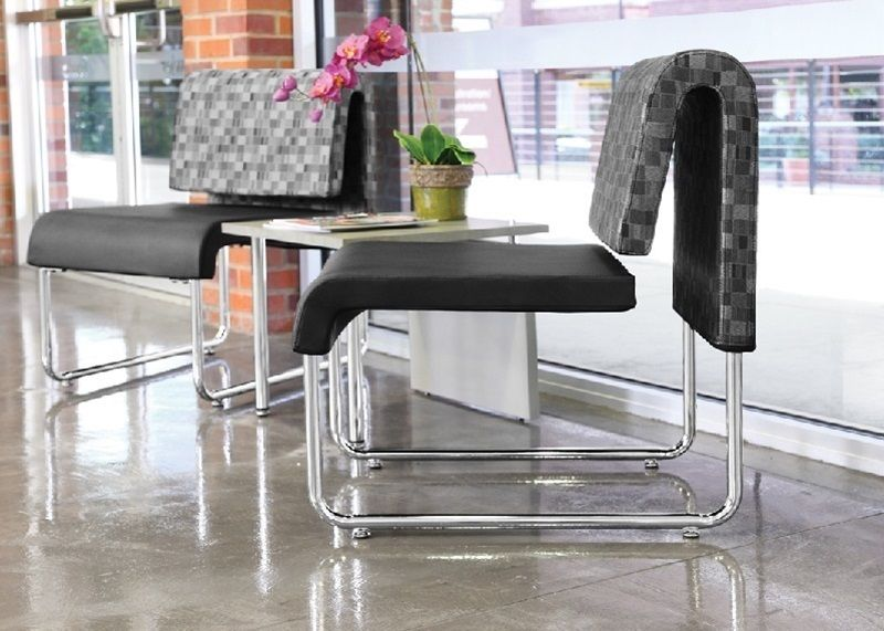 #89 - (3 PCS)UNO Series Lounge Package with Black Chairs & Windswept Bronze Table