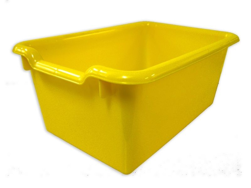 #81 - Versatile Scoop Front Plastic Storage Bins in Yellow