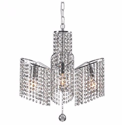 #136 - Modern Chandelier Design in Chrome w/Classically Beautiful Clear Crystals