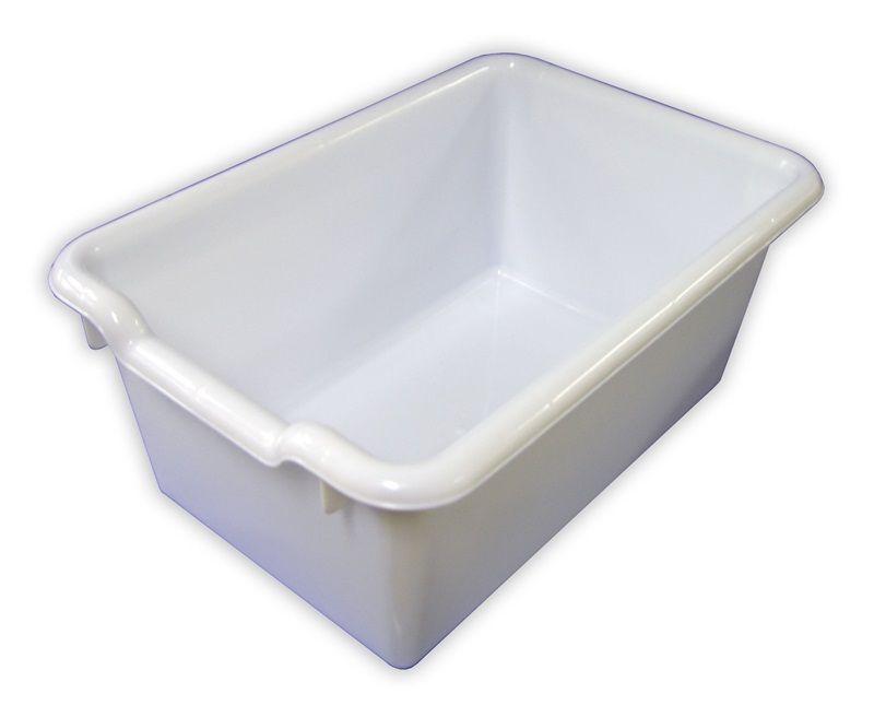 #82 - Versatile Scoop Front Plastic Storage Bins in White