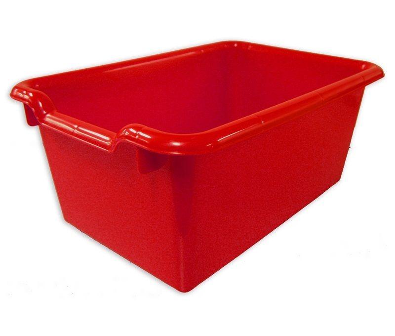 #83 - Versatile Scoop Front Plastic Storage Bins in Red