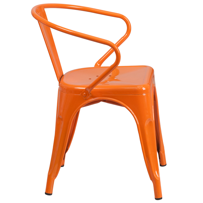 #50 - INDUSTRIAL STYLE ORANGE METAL WITH ARMS