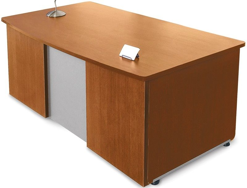#16 - 36''D x 72''W Contemporary Executive Office Desk in Cherry Finish