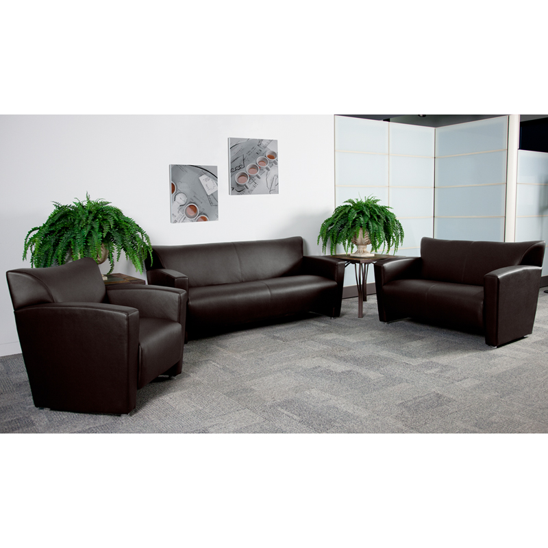 #7 -  MAJESTY SERIES RECEPTION SET IN BROWN