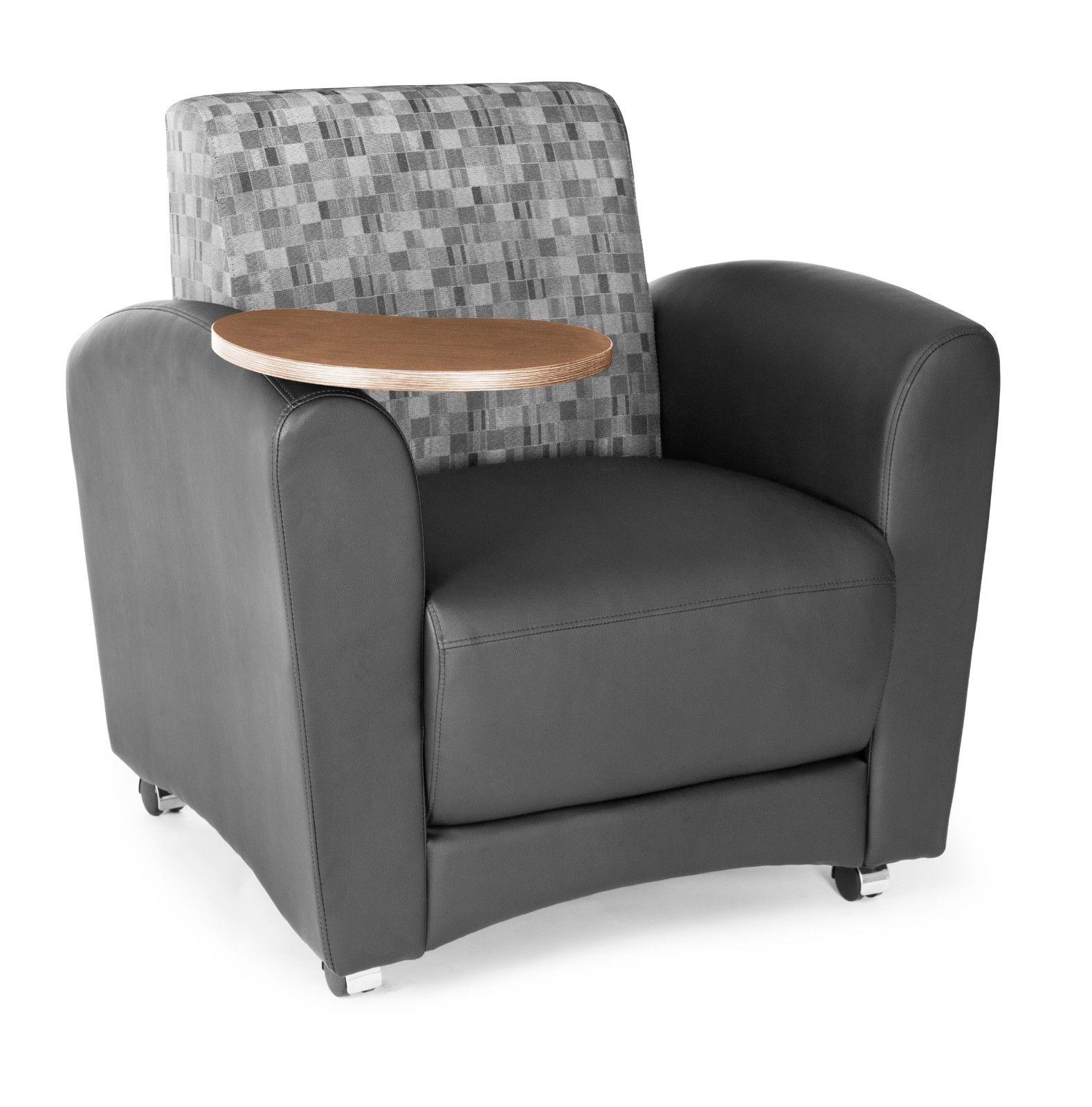 #123 - InterPlay Series Tablet Black Nickel Bronze Lounge Chair