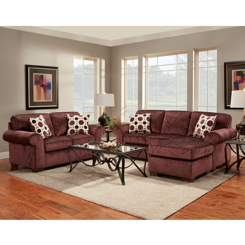 #27 - Exceptional Designs Living Room Set in Prism Elderberry Microfiber