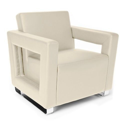 #124 - Distinct Series Soft Seating Cream Lounge Chair