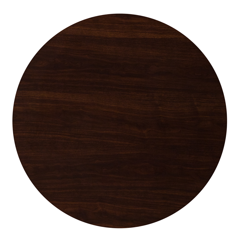 #36 - 36'' ROUND RESIN WALNUT TABLE TOP