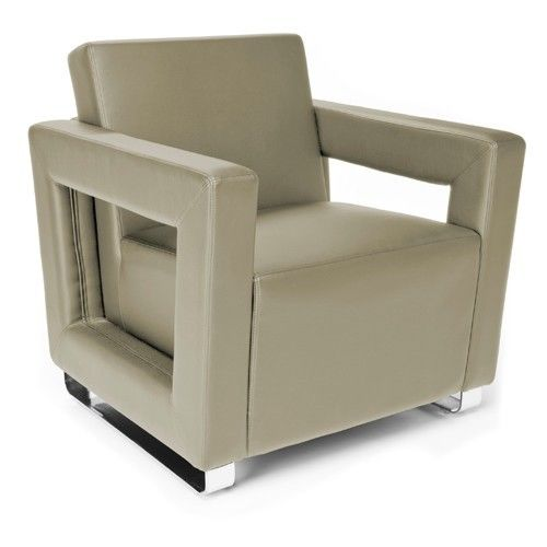 #125 - Distinct Series Soft Seating Taupe Lounge Chair