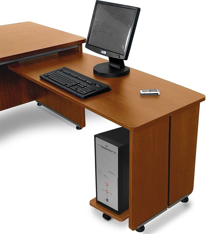 #18 - 36''D x 72''W Contemporary Executive Office Desk in Cherry Finish & Desk Return