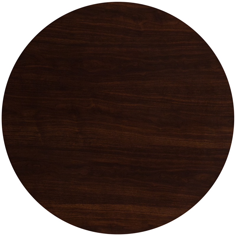 #37 - 48'' ROUND RESIN WALNUT TABLE TOP