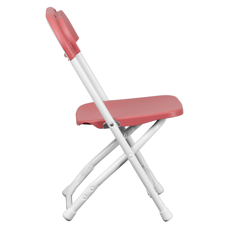 #30 - KIDS BURGUNDY PLASTIC FOLDING CHAIR